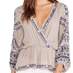 Free People Stitch Up Your Heart Top M